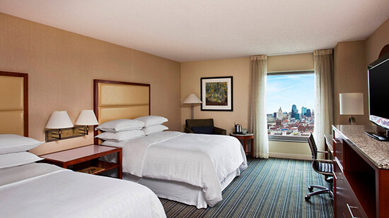 Sheraton Kansas City double rooms