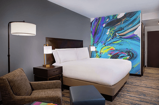 Sheraton Kansas City king rooms