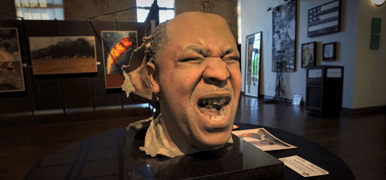 Bust featured inside of the Buffalo Soldier Museum