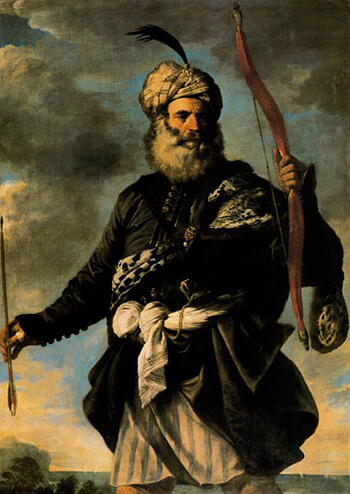 Italian painter Pier Francesco Mola's depiction of a Barbary Pirate, 1650