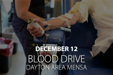 Dayton Area Mensa Blood Drive