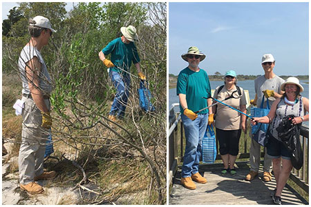 Maryland Mensans collect refuse along Assateague Island