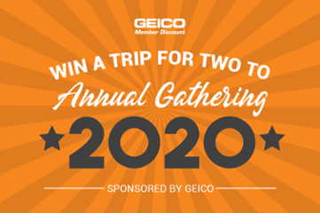 Win a Trip for Two to Annual Gathering 2020, Sponsored by GEICO
