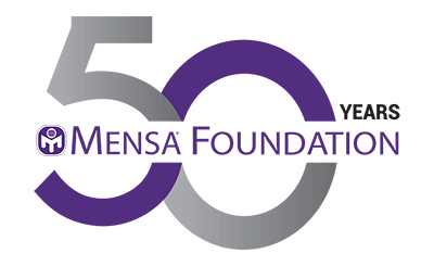 Mensa Foundation 50th anniversary logo