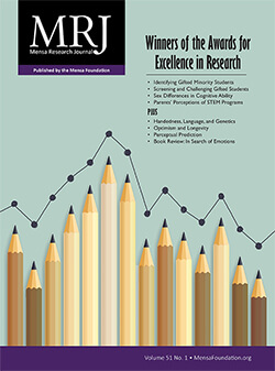 Mensa Research Journal Vol. 51, Issue 1 cover