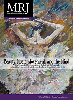 Mensa Research Journal Vol. 51, No. 2 cover