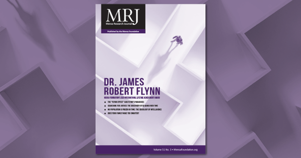 Celebrating a Lifetime of Achievement: The Researcher Behind the Flynn Effect