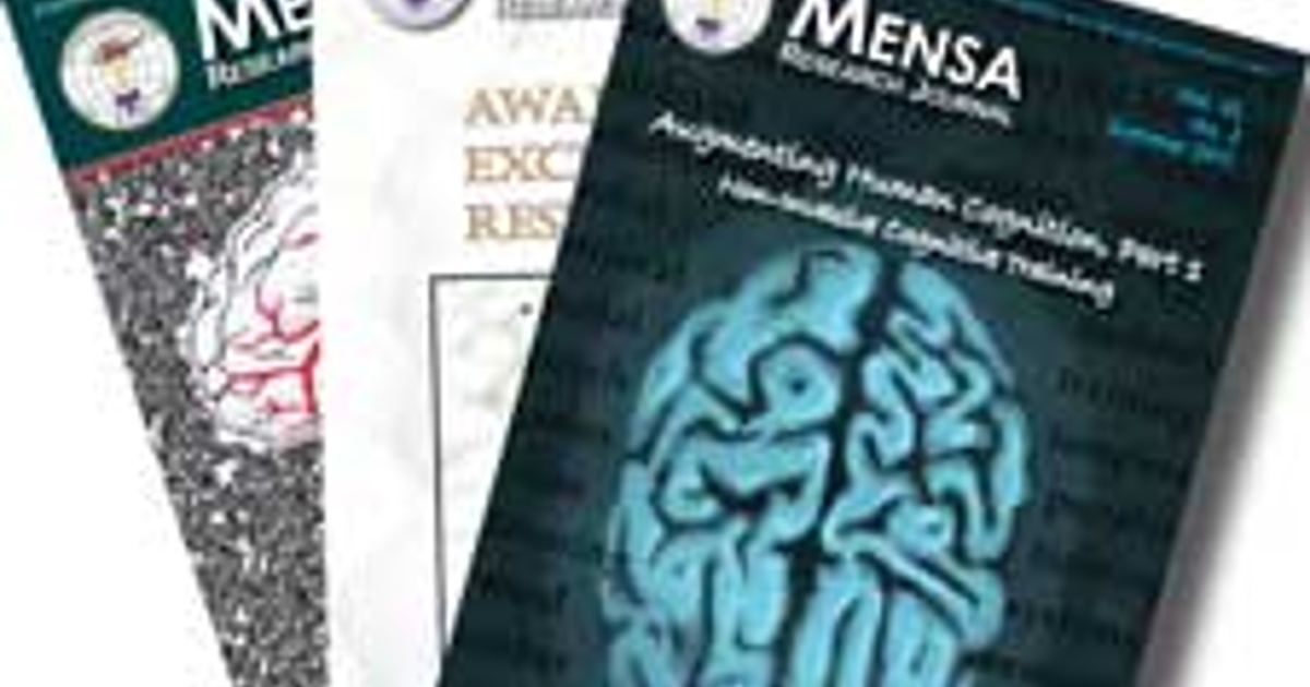 Mensa Research Journal allows readers to explore the many facets of intelligence