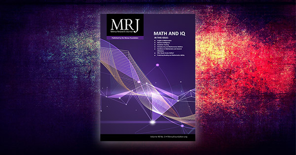 Fall Mensa Research Journal Examines Math, IQ Interplay
