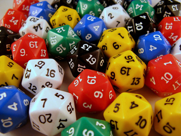 Polyhedral dice photo
