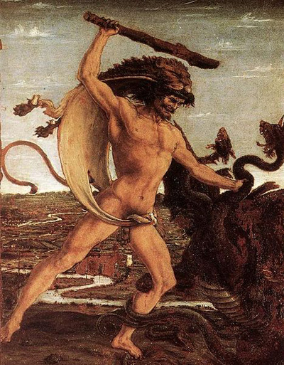 Hercules and the Hydra painting