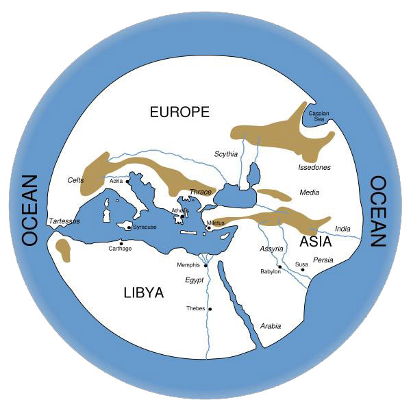 Greek view of the world graphic