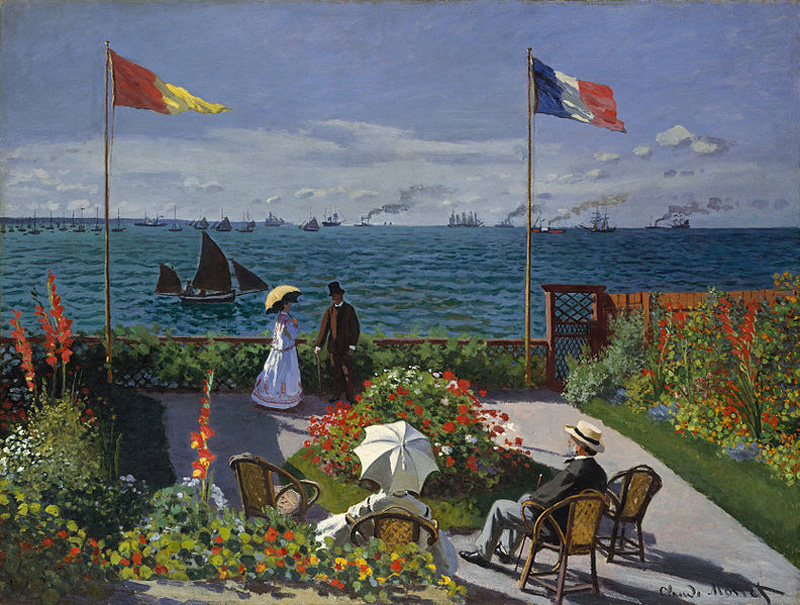 Jardin à Sainte-Adresse (1866-67), by Monet