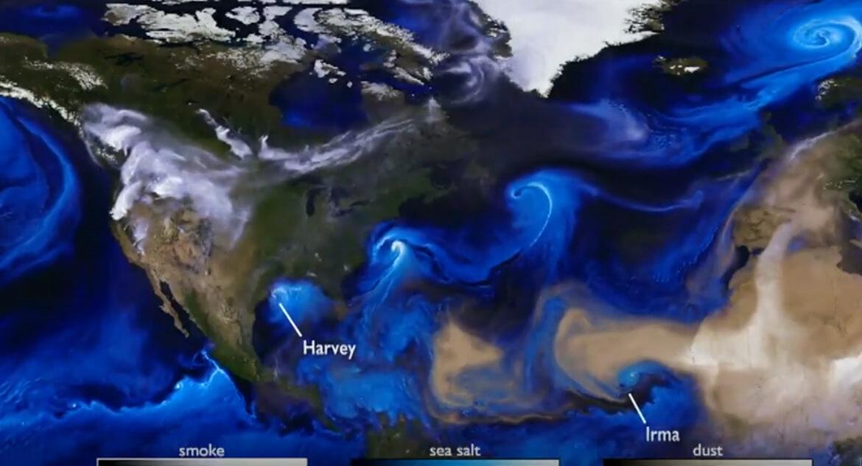 Satellite weather image of Hurricane Harvey